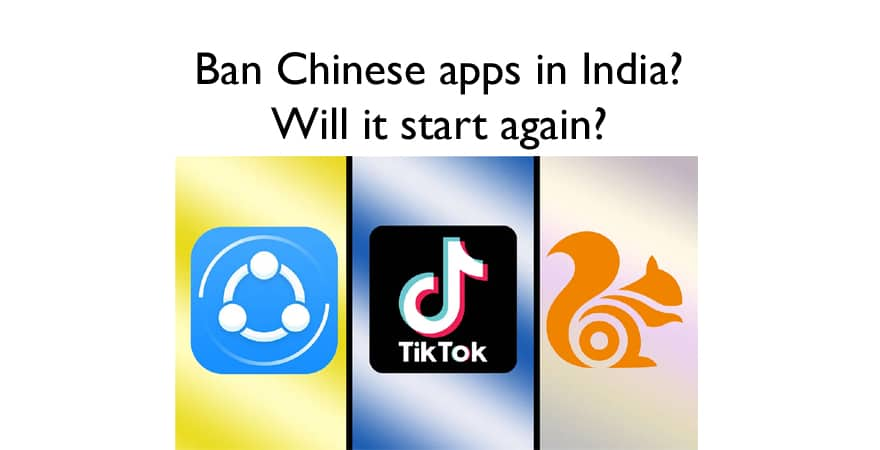 chinese apps Ban In india